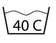 Lavado máximo a 40ºC